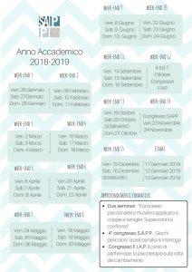 calendario lezioni SAPP 2017-2018