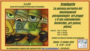 SAMINARIO SAPP 17 OTTOBRE